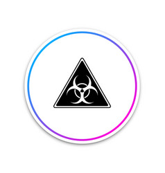 triangle sign with biohazard symbol icon isolated vector image