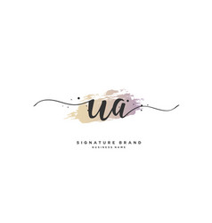 W a initial letter handwriting and signature logo vector