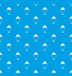 Waves pattern seamless blue vector
