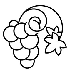 wine grape icon outline style vector image