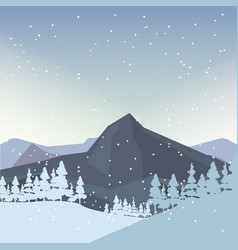 winter landscape design vector image