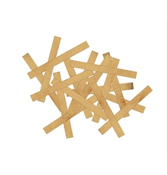 wooden mess vector image