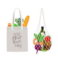 zero waste shopping vector image