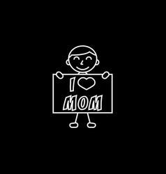 child i love mom vector image vector image