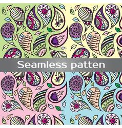 Colorful seamless pattern with painted wing vector image vector image