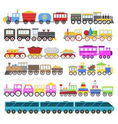 kids train cartoon baby railroad toy or vector image