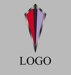 logo shield with a beautiful pattern vector image