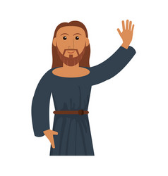 Portrait jesus christ blessed vector
