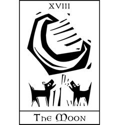 Moon Tarot vector image