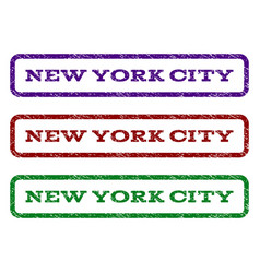 new york city watermark stamp vector image vector image