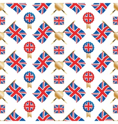 uk seamless pattern vector image vector image