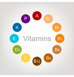 Vitamins collection for your design vector image