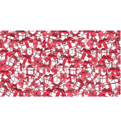 white gift boxes and red bows ribbons holiday vector image vector image
