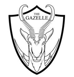 animal of africa gazelle head vector image vector image