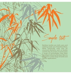 Bamboo Floral background with copy space vector image