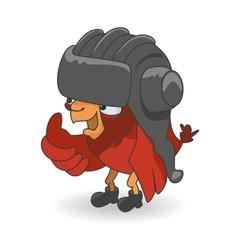 Cartoon Red bird vector image