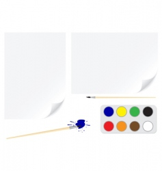 paper brush colors vector image vector image