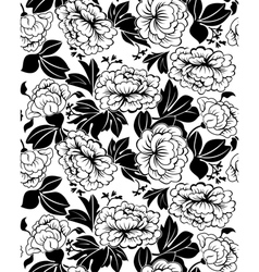 peonies pattern vector image vector image