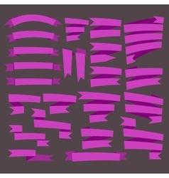 Pink curving Ribbons set vector image vector image