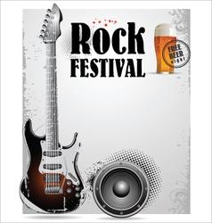 Rock festival poster vector image vector image