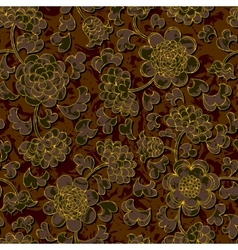 seamless floral damask pattern background vector image vector image