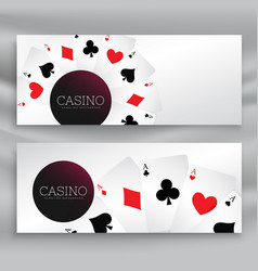 set of casino banners with playing cards vector image