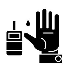 sugar blood level - diabetes icon vector image