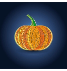 Typographic Pumpkin Card vector image