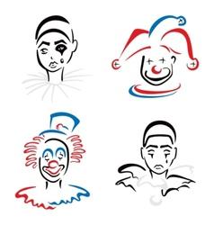 Circus artists vector