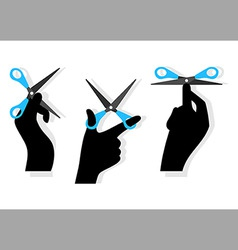 cut hands vector image vector image