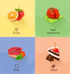Food concept set vector image vector image