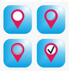 geo tag icon vector image