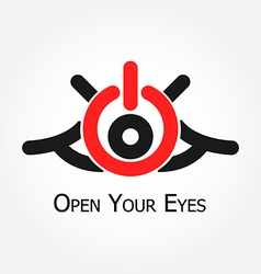 Open Your Eyes vector image vector image