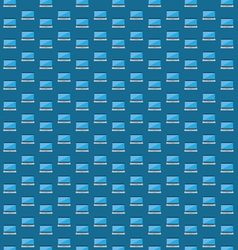 Smart laptop icon pattern vector image vector image