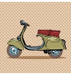 Vintage scooter retro transport vector image