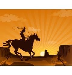 Wild West Landscape Poster vector image