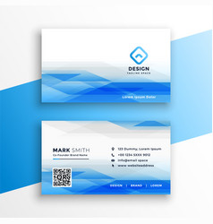 Abstract blue visiting card layout design template vector