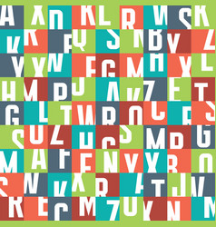 abstract geometric typography letters background vector image