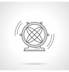 Atom pendulum flat line icon vector