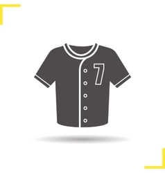 Baseball t-shirt icon vector