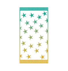 Beach towel with stars top view isolated on white vector