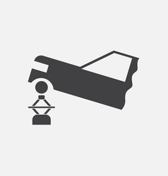 Black icon on white background car and crane vector