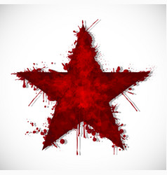 bloody star - ink vector image