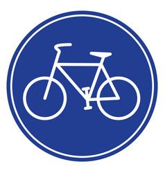 blue bike icon vector image