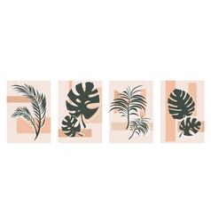 botanical wall art set vector image