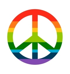 Brightness Rainbow peace symbol vector