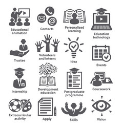 Business management icons pack 35 vector