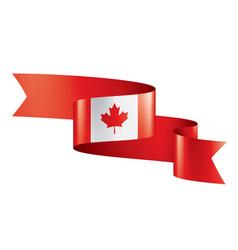 Canada flag on a white vector