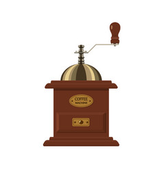 coffee mill isolated on white background vector image