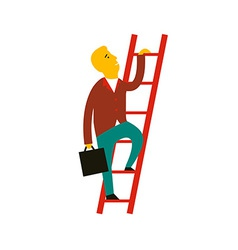 concept of cartoon man climbin vector image